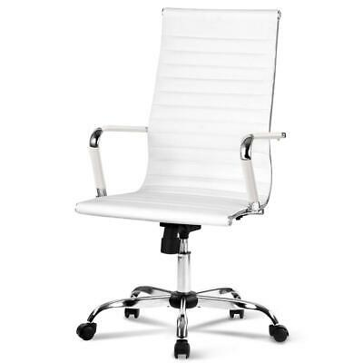 AU99.95 • Buy Artiss Gaming Office Chair Computer Desk Chairs Home Work Study White High Back