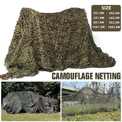 Camo Net Camouflage Netting Hunting/Shooting Hide Army Camping Woodland Netting • 10.93£