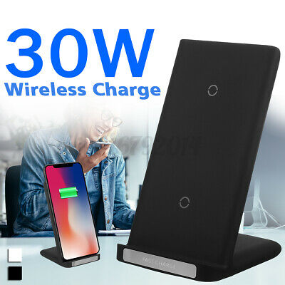 $ CDN17.05 • Buy 30W Fast Wireless Charger Stand Charging Dock For IPhone 8 X 11 12 Series Qi