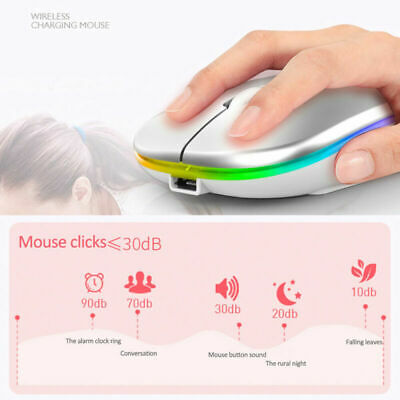AU14.69 • Buy Slim 2.4 GHz Optical Wireless Mouse Mice + USB Receiver For Laptop PC Macbook AU