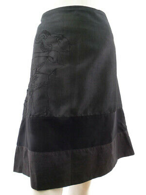 St-martins Women's Skirt Size L Gray Embroidery • 26.99£