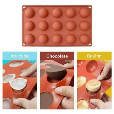 Half Ball Sphere Silicone Cake Mold Chocolate Cookie Ice Candy Baking Mould UK • 4.09£