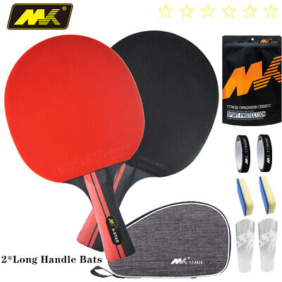 AU44 • Buy 2 Bats Professional Shakehand Longhand FL Table Tennis Paddle Ping Pong Racket