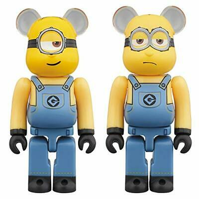 $60.99 • Buy Despicable Me Stuart & Kevin 100% Bearbrick 2-Pack
