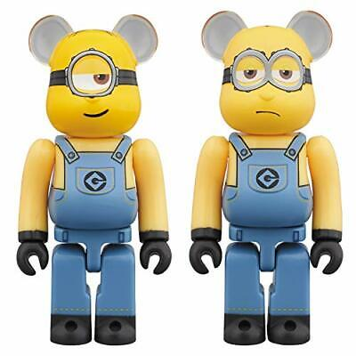 $106.99 • Buy Despicable Me Stuart & Kevin 100% Bearbrick 2-Pack