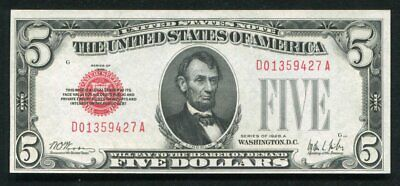 $ CDN127.53 • Buy Fr. 1526 1928-a $5 Red Seal Legal Tender United States Note Uncirculated
