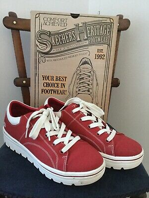 Sketchers Heritage Red Womens Skater Shoe, 8/41, Worn Once, Cost £54 • 35£