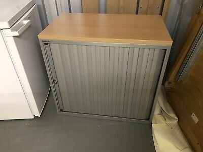 Bisley Storage Cupboard, Sliding Door, Perfect For Home Office Printer, RRP £280 • 85£