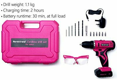 View Details Nordstrand Pink Cordless Drill Set - Electric Screwdriver Power Driver Kit Girl • 66.99£