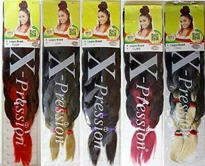 XPression Lagos Braids Pre-Stretched Hair Extensions  Kanekalon  Braiding Hair • 6.95£