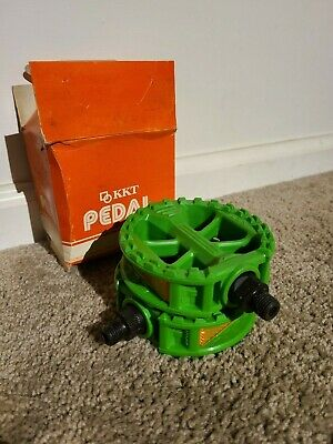 AU219.21 • Buy NOS KKT P-8 GREEN 1/2  Pedals Old School BMX GT DYNO HUTCH REDLINE