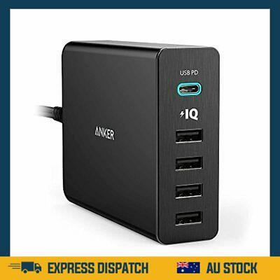 AU90.99 • Buy USB Type-C, 5-Port 60W USB Wall Charger Powerport+ 5 USB-C With Power Delivery