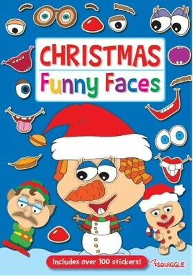 £2.95 • Buy Christmas Sticker Book Funny Faces Stocking Filler Fun Activity Kids Children
