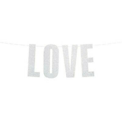 Love Just Married Mr And Mrs Wedding Party Foil Banner Bunting Decoration Banner • 2.69£