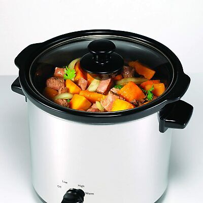 Morphy Richards Round Slow Cooker 3.5L Silver Slow Cooker Dishwasher Safe 460006 • 22.99£