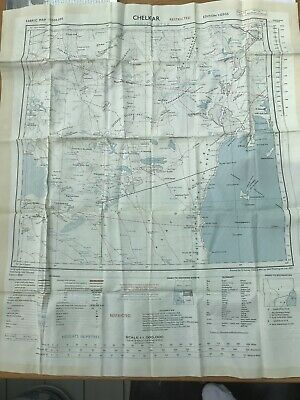 RAF Silk Escape Map Suez Crisis Conflict (Very Rare) Dated 1957 Double Sided • 87.95£