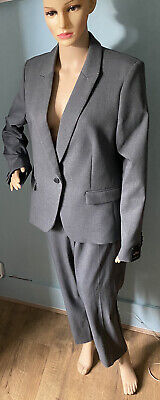 Next Tailored Single Breasted Womens Trousers Suit U.K. Size 16 Grey BNWT • 36.99£