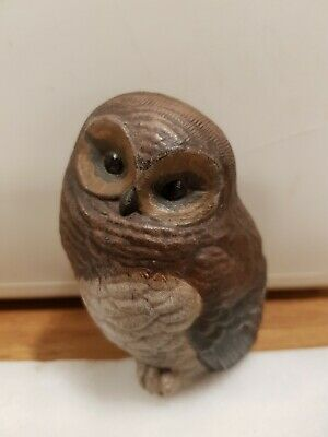 Vintage Poole Pottery Stoneware Baby Owl Sculpture Approx  H9CM By Barbara... • 20.90£