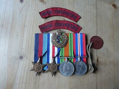 WW2 Medal Group To Royal Artillery And Later Royal Engineers ( RA And RE ). • 19.20£