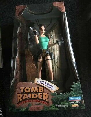Tomb Raider Action Figure Lara Croft In Jungle Outfit Playmates Edios • 50£