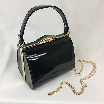 1940s Vintage Inspired Handbag In Black To Finish Off Your Vintage Outfit BNWT • 10£