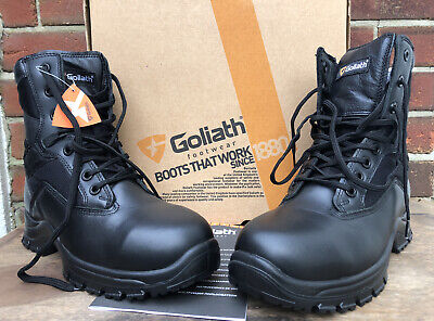 New Boxed GOLIATH DLPM1257 Black Safety Steel Toe YDS Boot 7L   Unisex • 34.99£