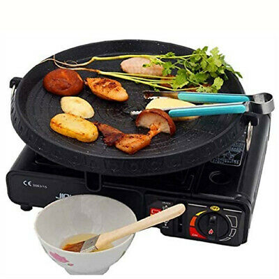 AU33.95 • Buy Portable Korean Non-stick BBQ Grill Pan Plate For Stovetop Hot Plate Pan 33x5 Cm
