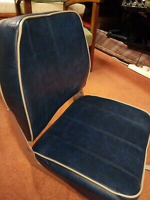 Quality Folding Navy Blue Boat Helm Seat - Excellent Condition • 25£