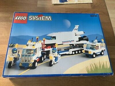 Lego System 6346 Vintage 1992 Space Shuttle Launching Crew, Instructions And Box • 25£