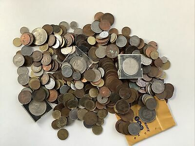 Job Lot Of Old Coins British & Foreign Coins Over 3kg! • 19£