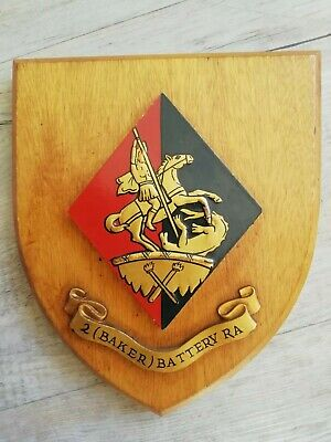 Royal Artillery 2 (Baker) Battery Regimental Mess Wall Plaque • 11.50£