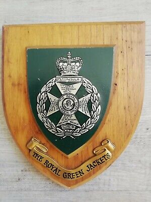 The Royal Green Jackets Regimental Wooden Wall Plaque • 10.70£