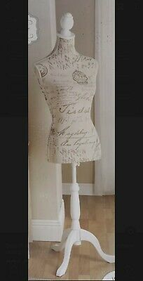 Beautiful Vintage Style Mannequin With Extendable Stand  Boutique White • 34.99£