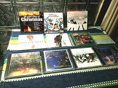 $ CDN13 • Buy Lot Of 10 Christmas Holiday Music CDS Various Traditional Pop Rock Jazz ++++