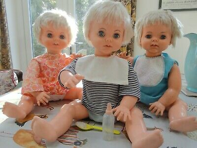 Roddy Choosy Susie Dolls Triplets With Clothes And Bottle And Spoon Choosie Suzy • 180£