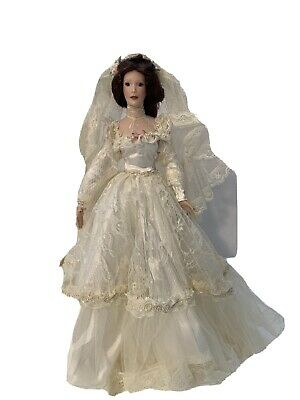 $ CDN32.67 • Buy Beautiful Victorian Bride Porcelain Doll, Mint, 14 Inches With Stand, Numbered