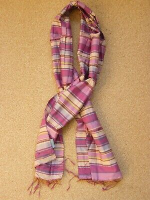 Pink And Purple Silk Scarf By Powder • 9.99£