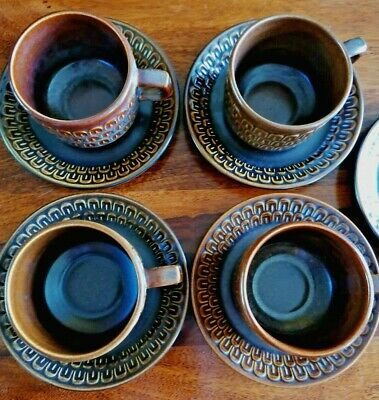 Vintage Pennine Wedgewood Tea Set Service - 4 Cups And Saucers VGC • 18£