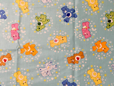 Care Bears Mixed Party Retro Vintage Cotton Fabric Remnant 22 X 18 Inches • 8£