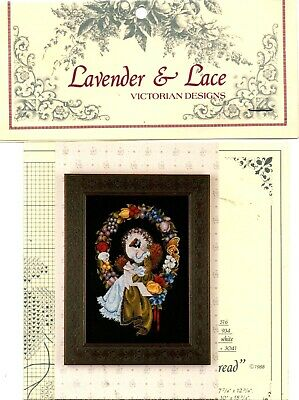 Cross Stitch Chart - Lavender & Lace - 'lady Of The Thread' - Unused • 5.99£