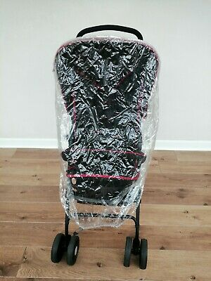 Hauck Sport Buggy Pushchair Stroller With Rain Cover Black Red • 27£