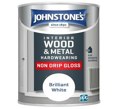 £15.99 • Buy Johnstone's Non Drip Gloss Paint - Brilliant White, 750ml Free UPS Exp Delivery