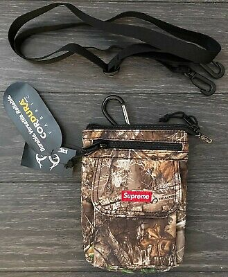 $ CDN33.89 • Buy FW19 SUPREME REAL TREE CAMO CORDURA SHOULDER BAG RED BOX LOGO Tnf Cdg Bape