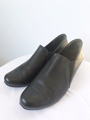 AU50 • Buy ZIERA Size 40 Black Leather Low Heeled Pull On Formal Orthotic Comfort Shoes