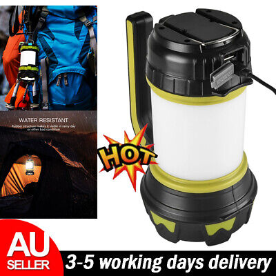 AU25.93 • Buy Portable LED USB Rechargeable Camping Lantern Hiking Tent Outdoor Lamp Light AU