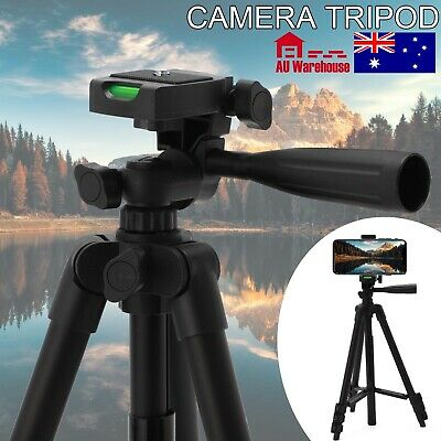 AU11.99 • Buy Professional New Camera Tripod Stand Mount + Phone Holder, For IPhone Samsung