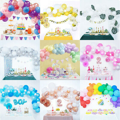 AU24.69 • Buy Balloon Arch Set Kit Garland Birthday Wedding Baby Shower Balloons Party Decor
