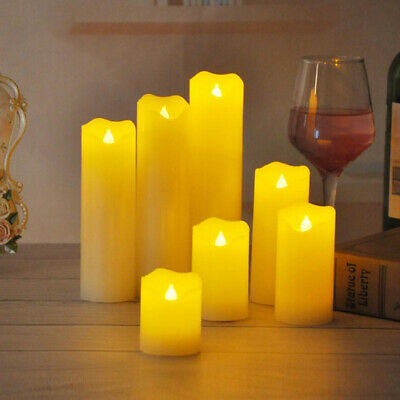 LED Flameless Flickering Wax Candles Tea Light Battery Power Wedding Party Decor • 6.58£