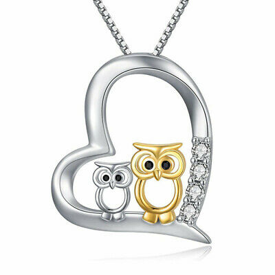 $ CDN2.39 • Buy Fashion Silver Gold Owl Zircon Lover Pendant Necklace Jewelry For Women Gifts