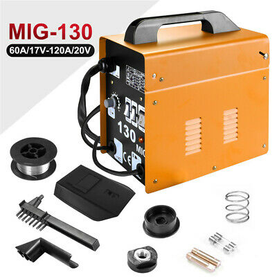 Gasless MIG Welder 130 Flux No Gas Welding Machine Auto Feed Welder Kit 230V UK • 86.99£